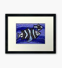 Tribal Fish  Framed Print