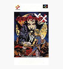 Castlevania Akumajo Dracula X Nintendo Super Famicom Japanese Box Art Photographic Print