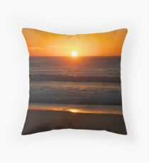 Sunrise on Sunshine Beach Throw Pillow