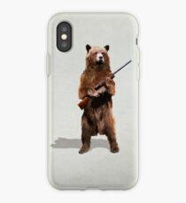 Bear with a shotgun iPhone Case
