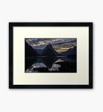 Sunset at Milford Sound Framed Print