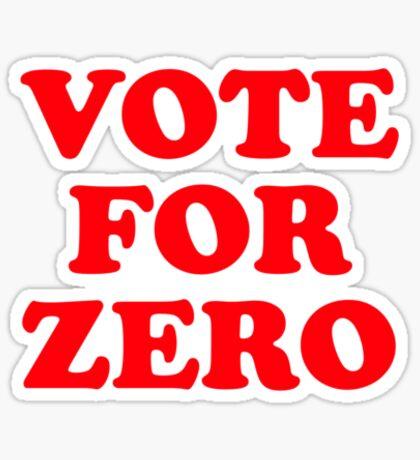 Vote for Zero Sticker