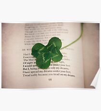 poetry and four leaf clover Poster