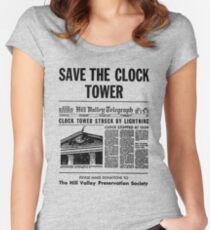 Save the Clocktower Women's Fitted Scoop T-Shirt