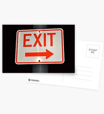 Exit Sign Postcards