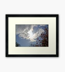 Blue Sky, Sun, Clouds Framed Print