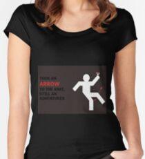 Arrow to the Knee, Still an Adventurer Women's Fitted Scoop T-Shirt