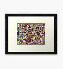 The Crowd Framed Print