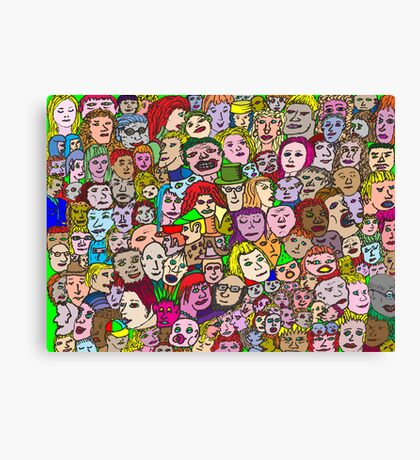 The Crowd Canvas Print