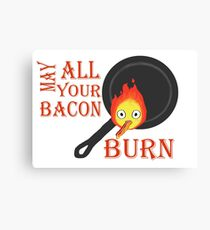Bacon Burning Canvas Print