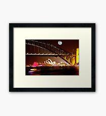 Full Moon Sydney Framed Print
