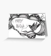 Birthday bird card  Greeting Card