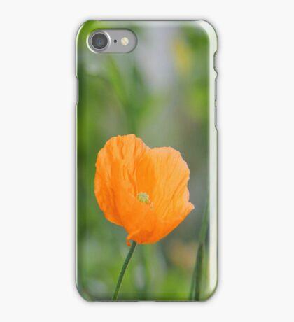Orange Poppy #2 iPhone Case/Skin