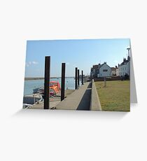 East Quay, Wells Greeting Card
