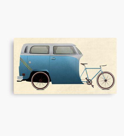 Camper Bike Metal Print