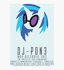 Vinyl Scratch Poster Photographic Print