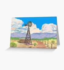 Southwest Windmill  Greeting Card