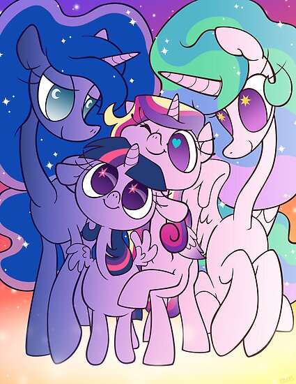 Prett Pink Pony Princesses by Momodriller
