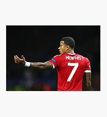 Memphis Depay Man Utd no.7 Photographic Print