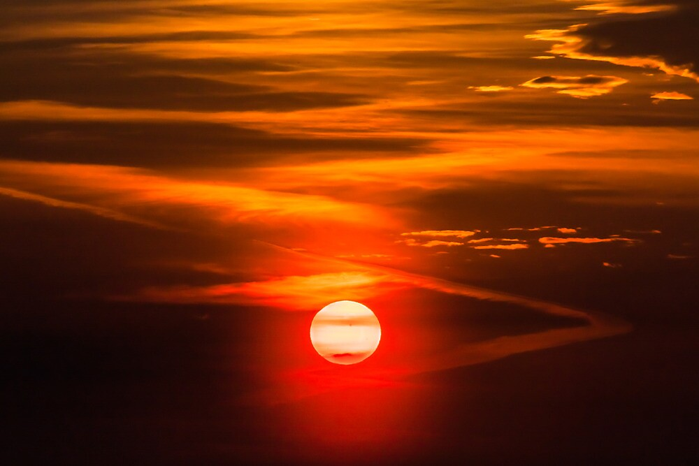 Orange Sky And Dramatic Clouds by GrishkaBruev