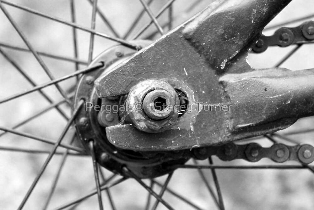 Grey BMX close up by Perggals© - Stacey Turner