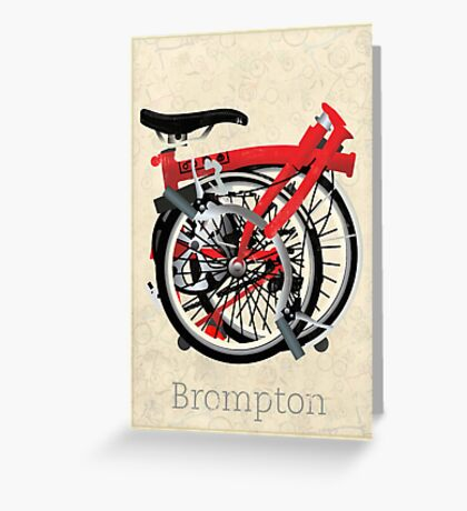 Brompton Bicycle Folded Greeting Card