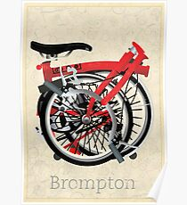 Brompton Bicycle Folded Poster