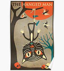 Tarot Card Cat: The Hanged Man Poster