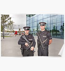Royal Gibraltar Police at  the Airport Poster