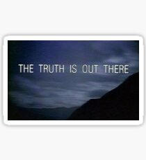 The X Files The Truth is Out There Sticker
