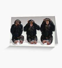 Speak No Evil, See No Evil, Hear No Evil Greeting Card