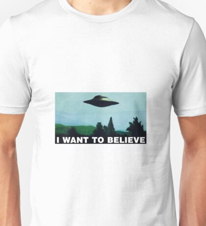 The X Files I Want To Believe Unisex T-Shirt