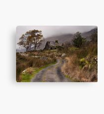 Black Valley Cottage Canvas Print