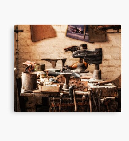 The Shoe Makers Shop Canvas Print