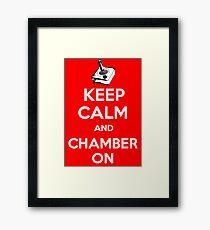 Keep Calm Poster Framed Print