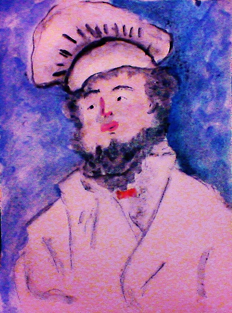 The Chef, watercolor by Anna  Lewis, blind artist