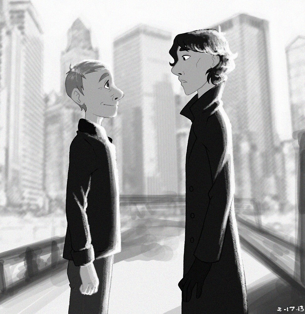 Sherlock + Paperman, Part 2 by Marie Mikolay