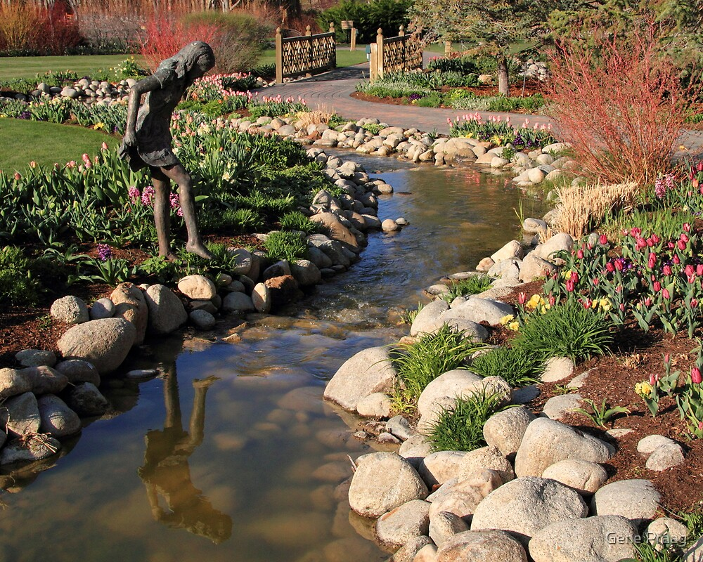 Girl In The Garden by Gene Praag
