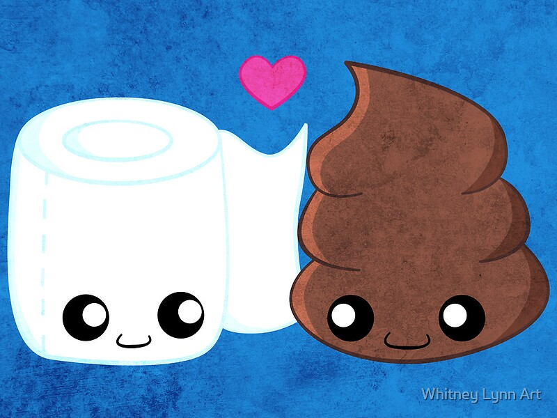 bff s   toilet paper and poop canvas prints by whitney