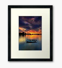 Floating Sunset # 2 Framed Print