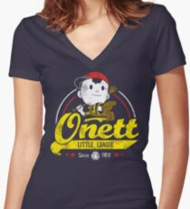 Onett little league Women's Fitted V-Neck T-Shirt