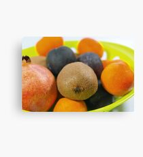 Plate of Fruits Canvas Print