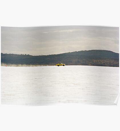Holden Monaro on the salt at full throttle Poster