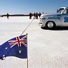 1954 FJ Holden on the salt by Frank Kletschkus