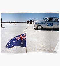 1954 FJ Holden on the salt Poster