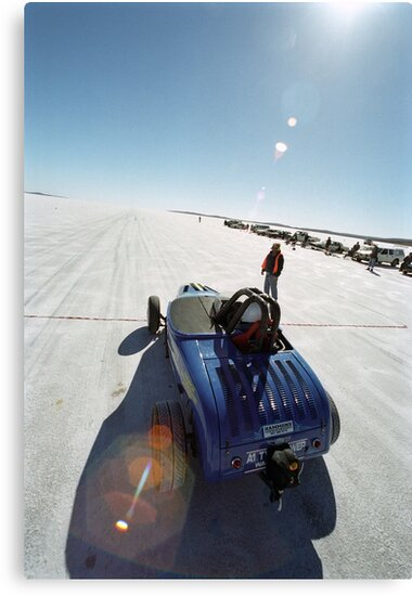 Ford Hot Rod on the salt 1 by Frank Kletschkus