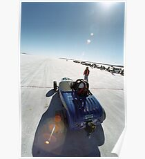 Ford Hot Rod on the salt 1 Poster