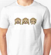 Emoji - See No Evil, Hear No Evil, Speak No Evil T-Shirt