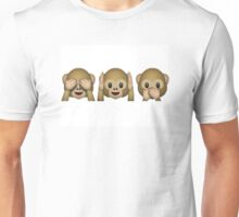 Emoji - See No Evil, Hear No Evil, Speak No Evil Unisex T-Shirt
