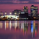 Canary Wharf & O2 Arena by Night by Mattia  Bicchi Photography